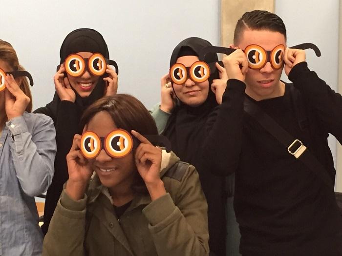 Usherbril challenge met een klas voor Ushersyndroom.nl